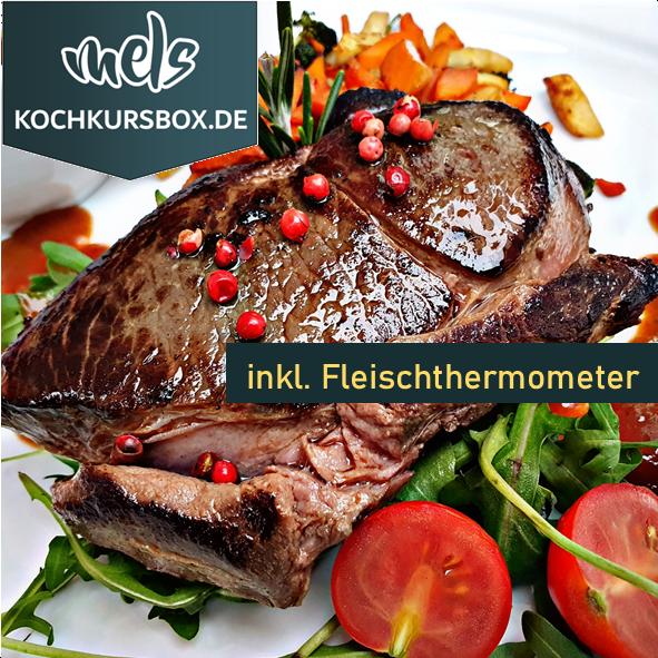 Hirsch Steak Kochkurs Box Kochschule Foodbox Mels Hof Viehbrook