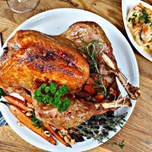 Truthahn Weihnachtsessen Festessen Foodbox