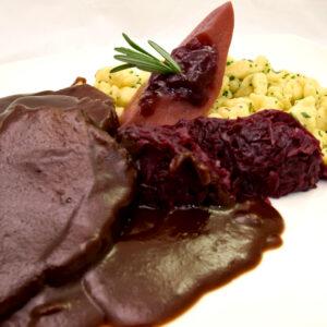 Hirschbraten Weihnachten Foodbox Wild Mels Restaurant