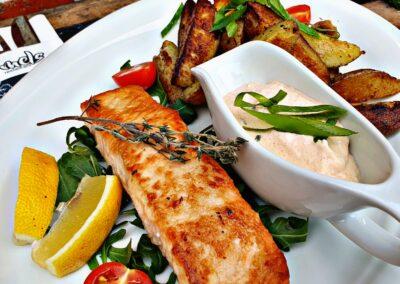 Lachs Fisch Mels Restaurant Dip Hof Viehbrook