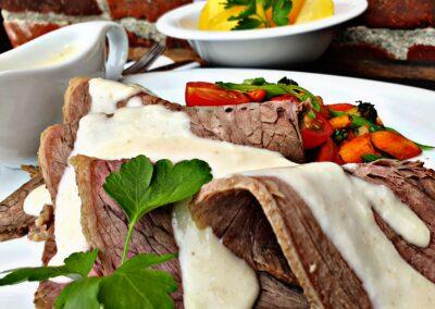 Tafelspitz Meerrettich Kartoffel Hof Viehbrook Mels Restaurant